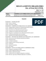Requisitos Certificação de Aeroportos - Rbac139