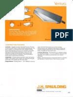 Spaulding Lighting Ventura Spec Sheet 8-84