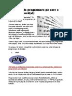 3 limbaje de programare esențiale