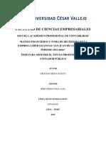 Ratios Financieros y Toma de Decisiones en La Empresa Lider Salud Sac San Juan de Lurigancho Periodo 2013-2014