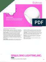 Spaulding Lighting Baltimore Floodlight Spec Sheet 4-86