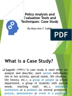 Case Study as a Tool in Policy Analysis and Eval.pptx