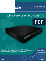 Grabador de video digital (DVR) de 8 canales, monitoreo por internet, salida HDMI