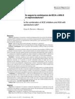 Combinación de IECAII o ARAII con espironolactona