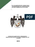 CUADRO DE NECESIDADES