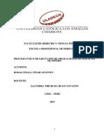 Proceso Único de Ejecución de Obligaciones de Dar Suma de Dinero