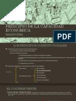 Principio de La Capacidad Contributiva y Economica