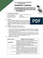 Determinacion de Perfiles Bioquimicos en Muestras Biologicas Humanas II