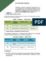 Ejercicios de Nomenclatura y Formulación de Óxidos Básicos y Acidos