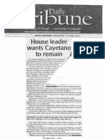 Daily Tribune, Oct. 23, 2019, House leader wants Cayetano to remain.pdf