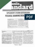 Manila Standard, Oct. 23, 2019, Speaker's term extension pushed sharing deal shaky.pdf