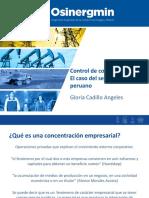 Presentación - Osinergmin Control de Concentraciones Gloria Cadillo