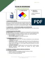 Ficha de Seguridad - Quimicos