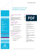 Responsible Use of ICT and Social Media Student Guidelines
