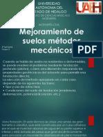 Mejoramiento de Suelos Métodos Mecánicos