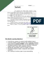 Grammar Packet 2015 3 Types of Sentences (1)