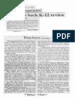 Philippine Star, Oct. 23, 2019, Teachers back K-12 review.pdf