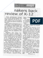 Tempo, Oct. 23, 2019, Lawmakers back review of K-12.pdf