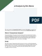 Transactional Analysis Full Explaination