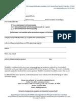 Scholarship Sponsor Form