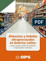 Alimentos y Bebidas Ultraprocesados en América Latina OPS