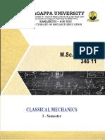 M_Sc_ Physics - 345 11 - Classical Mechanics