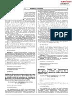 Aprueban Cuadro de Equivalencias de Órganos y Unidades Orgánicas de La Autoridad de Transporte Urbano Para Lima y Callao - ATU