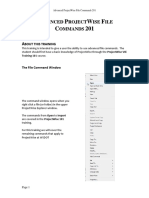 Advanced ProjectWise File Commands 201