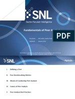 SNL Fundamentals of Peer Analysis
