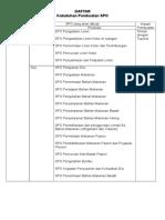 Daftar Kebutuhan Pembuatan SPO Penunjang Non Medis