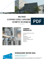 8 Innovative Construction Cement Materials