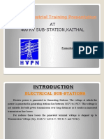 400kv Sub_station Final Ppt by RAVI