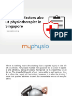 Important factors about physiotherapist in Singapore
