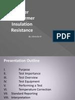 Insulation Resistance JDerecho 2 PRESMAT
