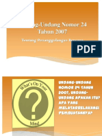 UU N0.24 Tahun 2007