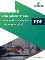Ibps Rrb Office Assistant Prelims Exam Analysis 2019 71