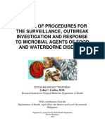 Manual of Procedures for the Surveillance Outbreak Investigation and Response to Microbial Agents of Food and Waterborne Diseases