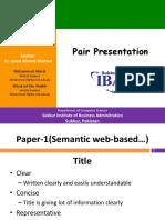 pair presentation