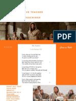 Jesus as a Teacher - Copy