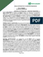 Reglamento Universal Product Servicios Financieros