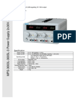 Matrix MPS-3003-5L-3 DC Power Supply Manual