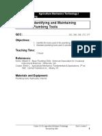 01421-3.3 Identifying & Maintaining Plumbing Tools