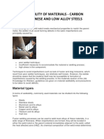 WELDABILITY OF MATERIALS - CARBON MANGANESE AND LOW ALLOY STEELS.docx