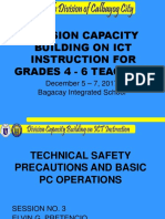 Technical Safety Precaution and Basic PC Operation