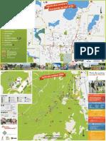 Carte des pistes cyclables à Val-d'Or