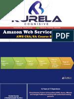AWS Course Content - KurelaCognisivePvtLtd