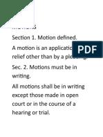 RULE 15 Motions