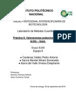 Valoraciones potenciométricas ácido-base.
