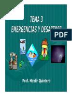Emergencia y Desastre