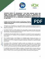 Acuerdo Presupuestos Andalucía 2020